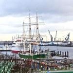 Old sailor on pier — Stock Photo