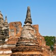 Famous temple area Wat Phra Si Sanphet, Royal Palace in Ajutthay — Foto Stock