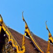 Roof of monastery Wat Na Phramane in Ajutthaya — Stock Photo