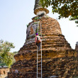 Famous temple area Wat Phra Si Sanphet, Royal Palace in Ajutthay — Stock Photo #5543298