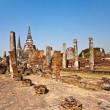 Famous temple area Wat Phra Si Sanphet — Stock Photo