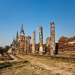 Famous temple area Wat Phra Si Sanphet — Stock Photo #5543372