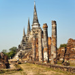 Famous temple area Wat Phra Si Sanphet — Stock Photo #5543373