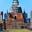 Famous temple area Wat Phra Si Sanphet — Photo