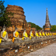 Buddha statues at the temple of Wat Yai Chai Mongkol — Stock Photo #5543543