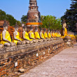 Buddha statues at the temple of Wat Yai Chai Mongkol — Stock Photo #5543545
