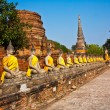 Buddha statues at the temple of Wat Yai Chai Mongkol — Stock Photo #5543548