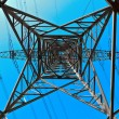 High voltage tower on a background with sky — Stock Photo #5552728