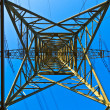 High voltage tower on a background with sky — Stock Photo #5552814