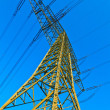 High voltage tower on a background with sky - Stock Photo