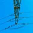 Stock Photo: High voltage tower on a background with sky