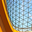 Modern architecture with glass roof — Stock Photo