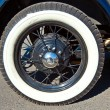 Stock Photo: Wheel of an oldtimer car