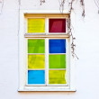 Old colorful window — Stock Photo