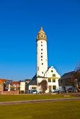 Schlossturm hoechster medieval famoso en frankfurt — Foto de Stock