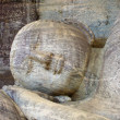 Stock Photo: Dying buddah in Gal Vihārin ancient capital Polonnaruwa,