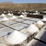Salt piles on a saline exploration — Stock Photo
