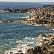 Vulcanic coastline in Lanzarote - Stock Photo