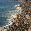 Vulcanic coastline in Lanzarote — Stock Photo