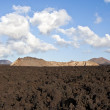 Vulcanic landscape under the extincted vulcano - Stock Photo