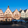 Roemerberg in Frankfurt, the former historic city center — Stock Photo