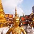 Foto de Stock  : Kinaree, mythology figure, in Grand Palace in Bangkok