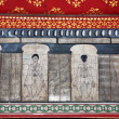 Paintings in temple Wat Pho teach Acupuncture and fareast medici - Stock Photo