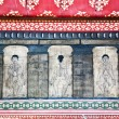 Paintings in temple Wat Pho teach Acupuncture and fareast medici — Stock Photo
