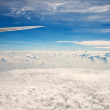 Beautiful clouds  on blue sky - Stock Photo
