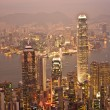 Hong Kong view from Victoria Peak — Stock Photo