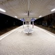 Empty station early morning in the dark — Stock fotografie