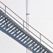 Stock Photo: White tanks in tank farm with staircase