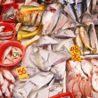 Fresh fish at the  market - 图库照片
