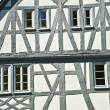 Old renovated half timbered houses — Foto de Stock