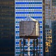 Old wooden water tower — Stock Photo