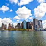 纽约城全景与曼哈顿的天际线 — 图库照片 #5617847