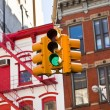 Green traffic light — Foto de Stock