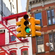 Stock Photo: Green traffic light