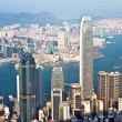 Hong Kong city view from Victoria peak — Stockfoto
