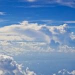 Puffy white cloud blue sky — Stock Photo