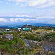 Camp with heli landing port at hte Mount Kilimanjaro trail — Stok fotoğraf
