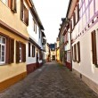 Stock Photo: Medieval street with half-timbered houses