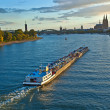 Stock Photo: Freight ship on river Rhine by Cologne in Germany