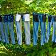 Trousers are drying - Foto Stock