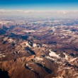 beautiful view from the aircraft to the mountains of the himalay — Stock Photo