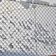 White tanks in tank farm with snow in winter — Stock Photo #5619099