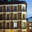 Old houses downtown Madrid with lofts — Stock fotografie