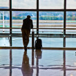 Man waiting for departure of his flight — Stock Photo #5619281