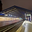 Train station by night — Stock Photo