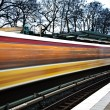 Train in motion - Stock Photo
